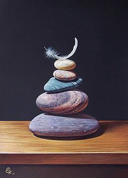 Stone tower 1 by Elena Kolotusha
