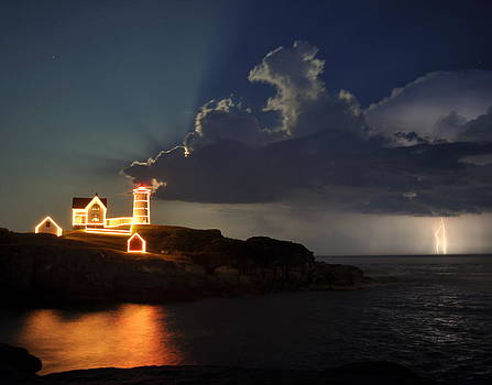 Storm Energizes the Lightning and the Lighthouse by Rick Frost