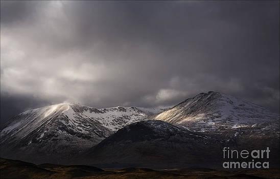 Storm Light on Black Mount Scotland by George Hodlin