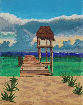 Stormy Dock by Sandra Azancot