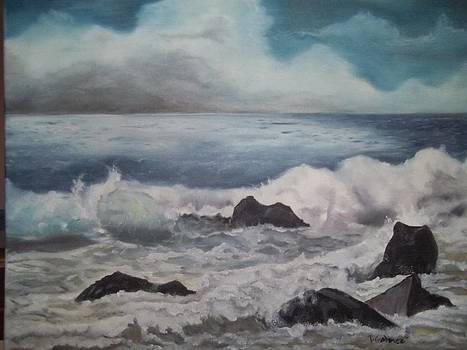 Stormy Sea at Mavericks by Terry Godinez
