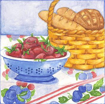 Strawberries and Bread by Barbara Esposito