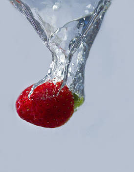 Strawberry drop by Paul Cowles
