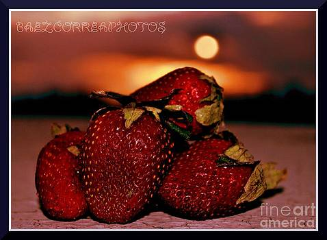 Strawberrys At Sunset by Luis Baez