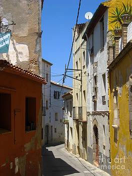 Street in Figueras Spain by AnneKarin Glass