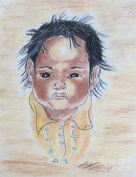 Study of a Navajo Child  3 by Julie Coughlin