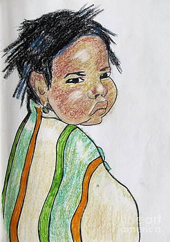 Study of a Navajo Child  4 by Julie Coughlin