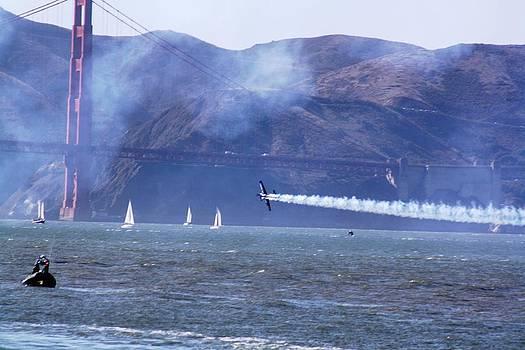 Stunt Man - Golden Gate Bridge by Victoria  Johns