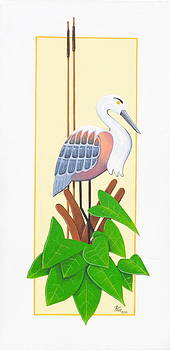 Stylized Water Bird by Anthony Fotia