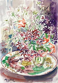 Summer Flowers on a Plate by Phong Trinh