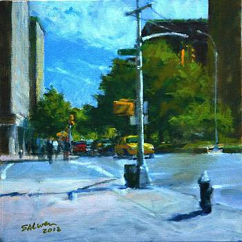 Summer Morning on Upper Broadway by Peter Salwen