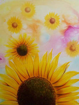 Sun Flowers in the morning by Mike Royal