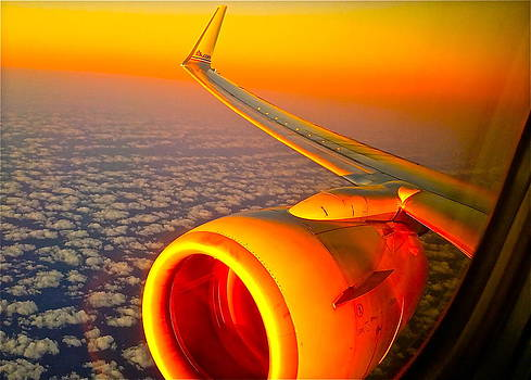 sun rise AA#1584 LAX to FLL by Ronald  Bell