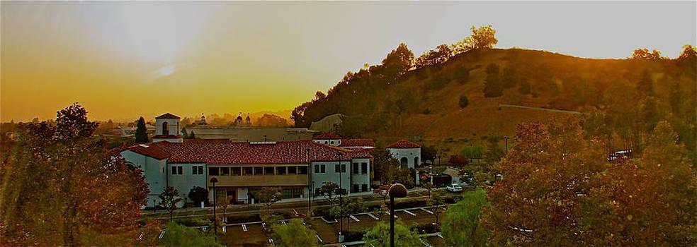 Sun set 38 degree NE Calabasas Ca. by Ronald  Bell