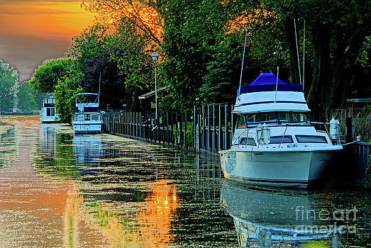Sun Set on The Canal by Nicole A Talbot