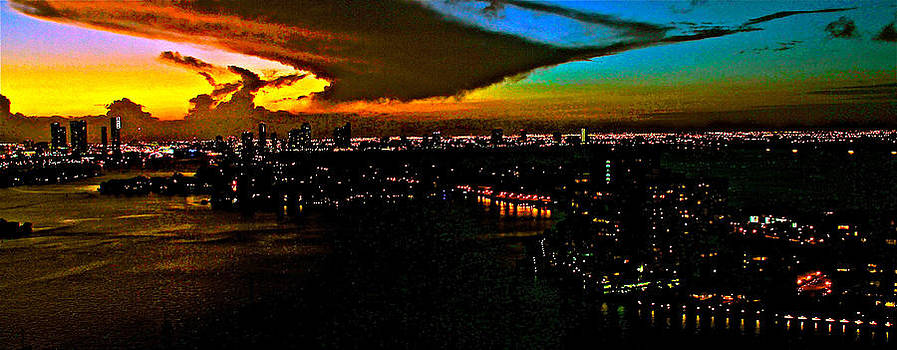 sun set over Miami 888 by Ronald  Bell