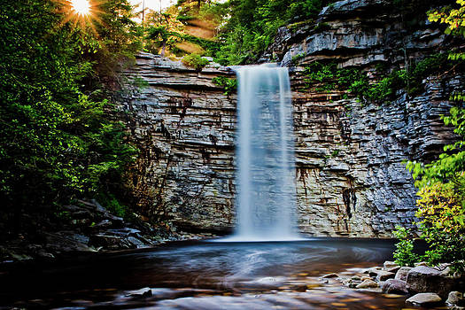 Dave Hahn - Sun setting over Awosting Falls