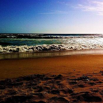 #sun #sky #beach #shore #waves #ocean by David Leandro