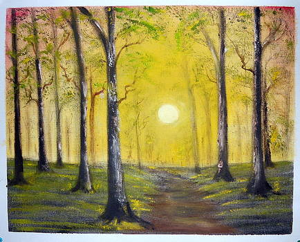 Sun Through Jungle by Ramakant Varma