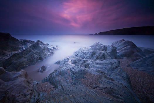 Sundown At Leas Foot by Mark Leader