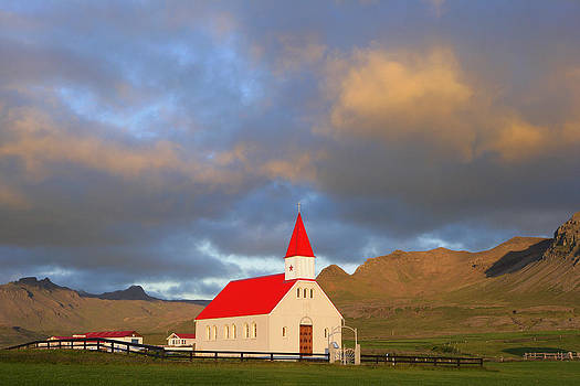 Sundown Church - Brimilsvellir - Iceland by Phil Degginger