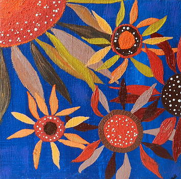 Sunflower Americana by Heather  Hubb
