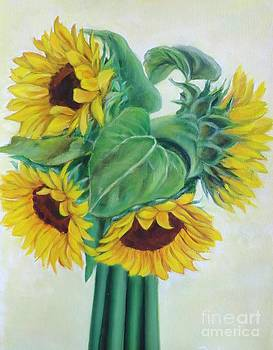 Sunflower circle by Ziba Bastani