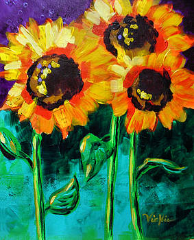 Sunflower Fields Forever by Vickie Warner