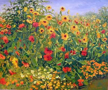 Sunflower Fiesta by Liliane Fournier