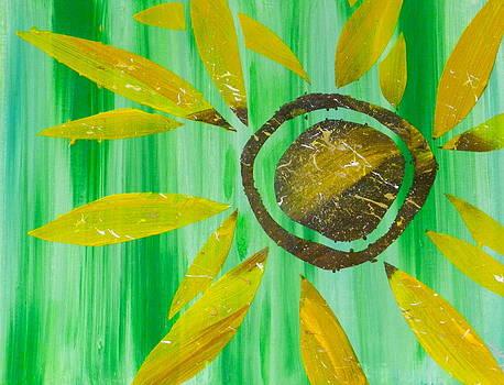 Sunflower by Heather  Hubb
