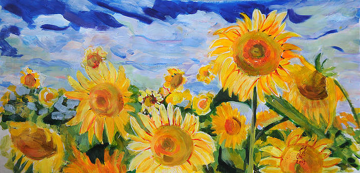 Sunflower by Otilia Gruneantu Scriuba