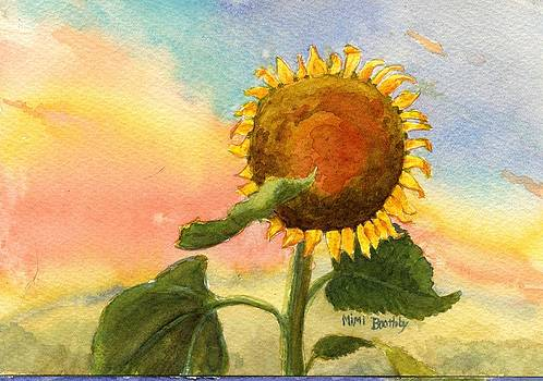 Sunflower Sunset by Mimi Boothby