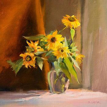 Sunflowers Before Hurricane Irene by Deborah Lazar