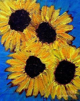 Sunflowers by Brenda Marik-schmidt