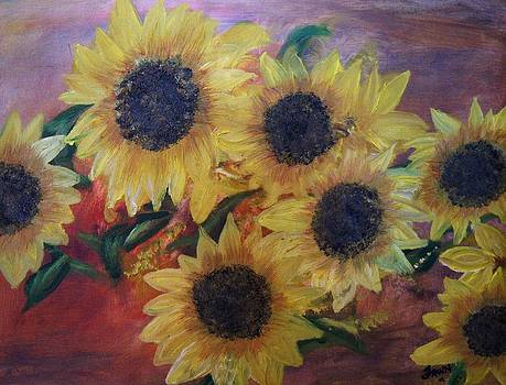 Sunflowers  by Fawn Whelahan