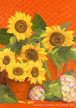Sunflowers by Gerd Doc Matysik