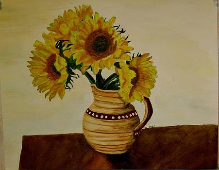Joan Pye - Sunflowers