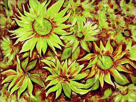 Sunflowers Kiwi by Leslie Marcus