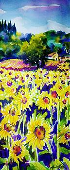 Sunflowers of Tuscany  Sold original Prints available by Therese Fowler-Bailey
