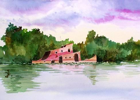 Sunken Tug by Richard Willows