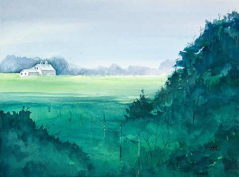 Michelle Wiarda - Sunlit Field Watercolor Painting