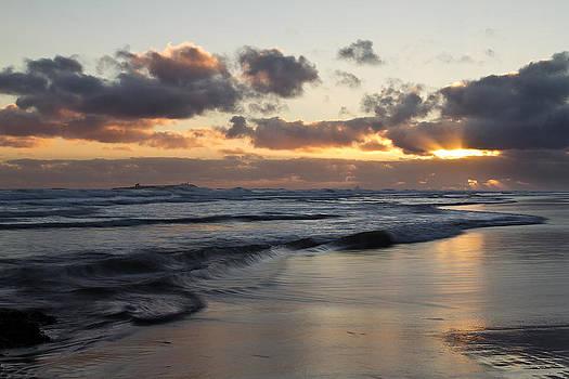 David Pringle - Sunrise at Bamburgh Beach
