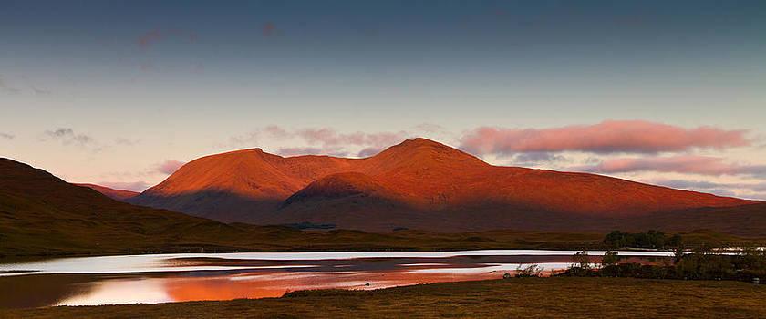 Sunrise at Lochan na h-Achlaise Scotland by Gabor Pozsgai
