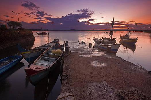 Sunrise By Jetty by Sydney Alvares