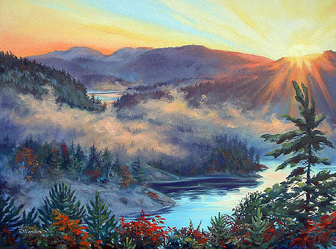 Sunrise Cranberry Bay by RoseMarie Condon