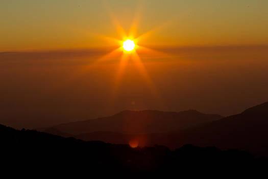 Sunrise in thailand by Kobchai Sukruean