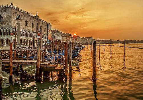 Sunrise in Venice by Valerii Tkachenko