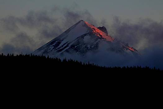 Sunrise on Mt. Mc Cloughlin by Rick Mutaw