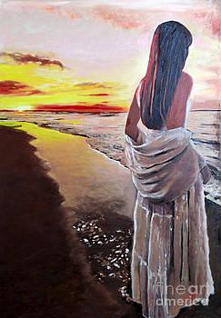 Sunrise on the Beach by Francoise Lynch