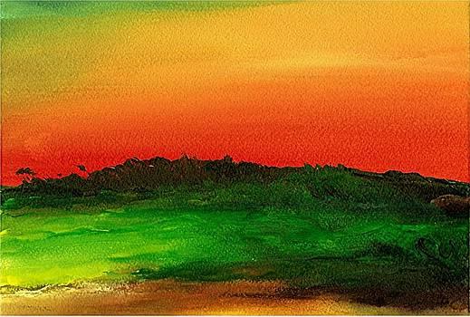Sunrise Over Cane Field by Rob M Harper